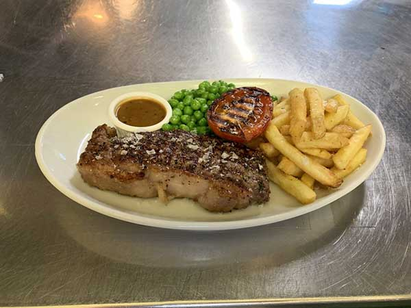 Steak night at the cricketers